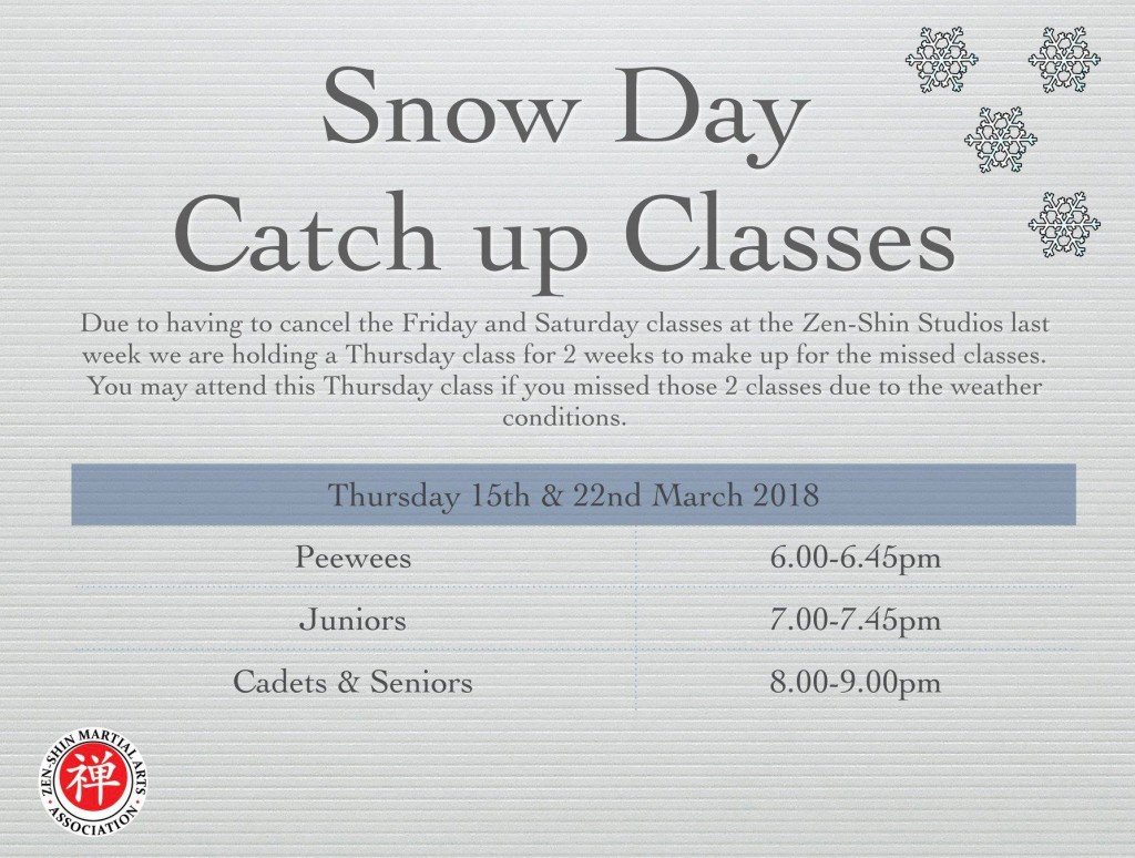 Snow day catch up classes