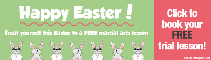 Happy Easter - free trial lesson banner