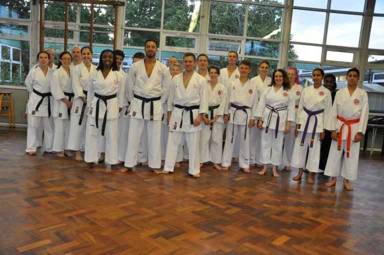 Mere green senior karate class