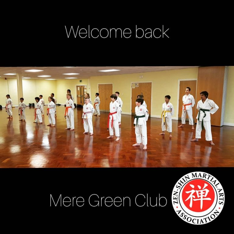 First day back to mere green karate class