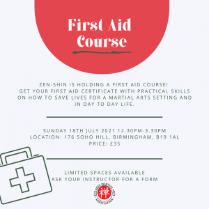 First aid course 2021